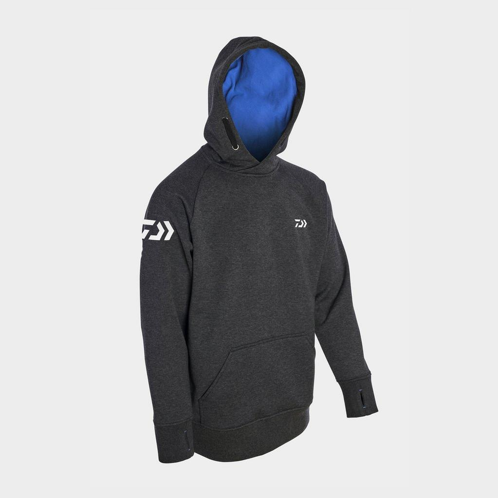 Black Daiwa Match Hoodie Grey Blue Lrg image 1