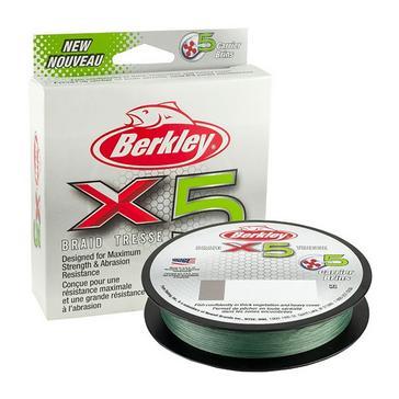 Berkley X5 Brd .20mm 300M 20.6kg Lo Viz Grn