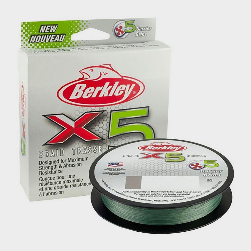 Berkley X5 Brd .25mm 300M 27.0kg Lo Viz Grn image 1