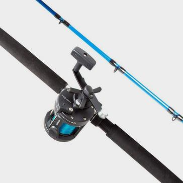 Black FLADEN Fission Boat Rod and Reel Combo