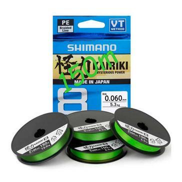 Green SHIMANO Kairiki PE Braid 0.12mm 7kg Mantis Green (150m)