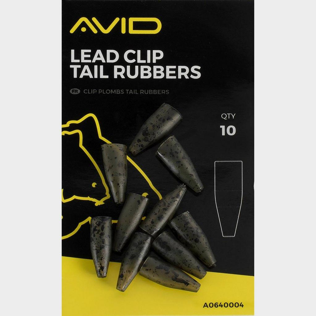 Black AVID Lead Clip Tail Rubbers image 1