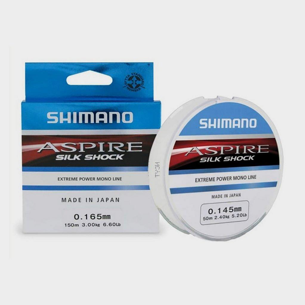 WHITE SHIMANO 0.10mm Aspire Silk Shock 150m image 1