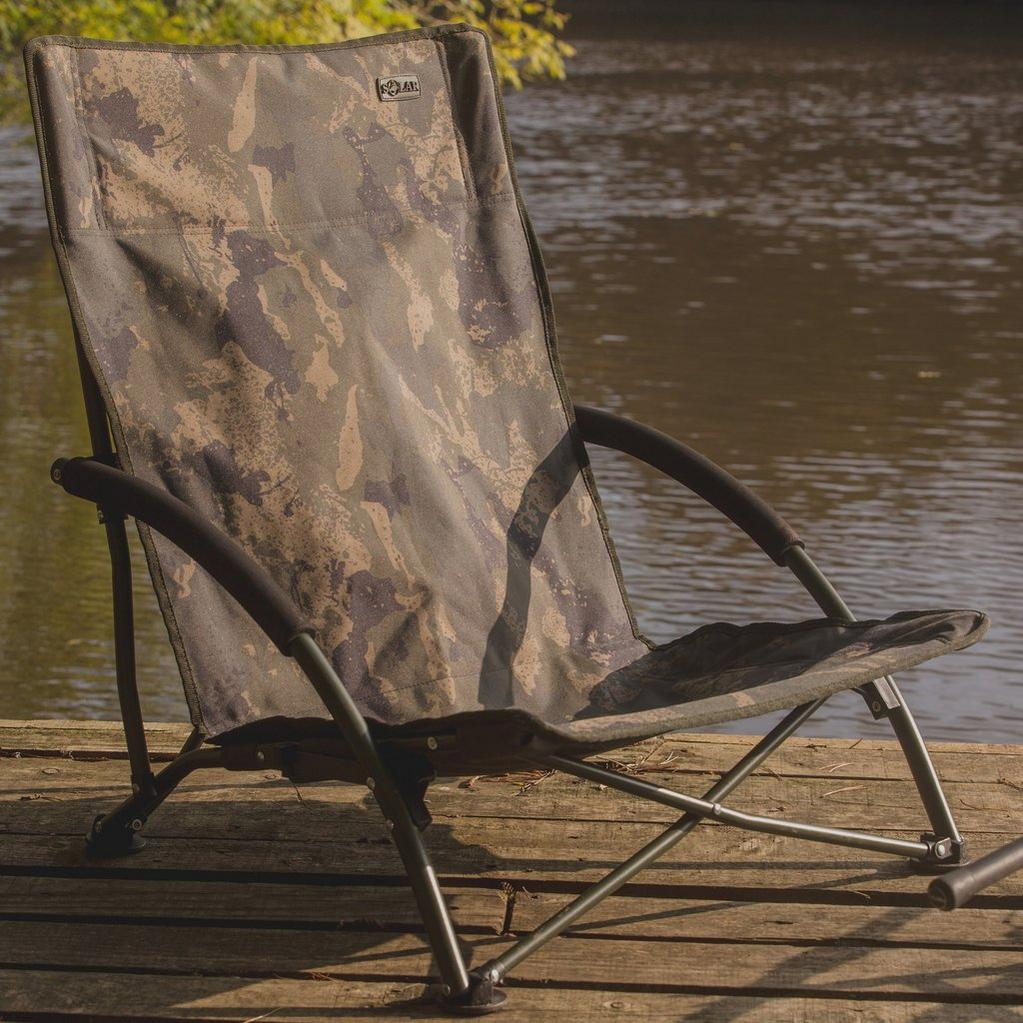 Camouflage SOLAR TACKLE Undercover Camo Foldable Low Chair image 1