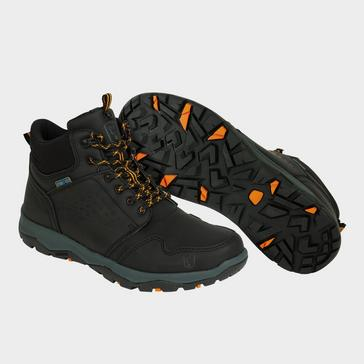 A rugged outdoor shoe for muddy banks. Fox Collection Black & Orange Mid Boots