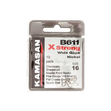 Black Kamasan B611 XS Barbed Size 20