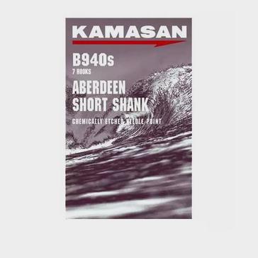 Silver Kamasan Short Shank Aberdeen Barbed Hook (3/0)