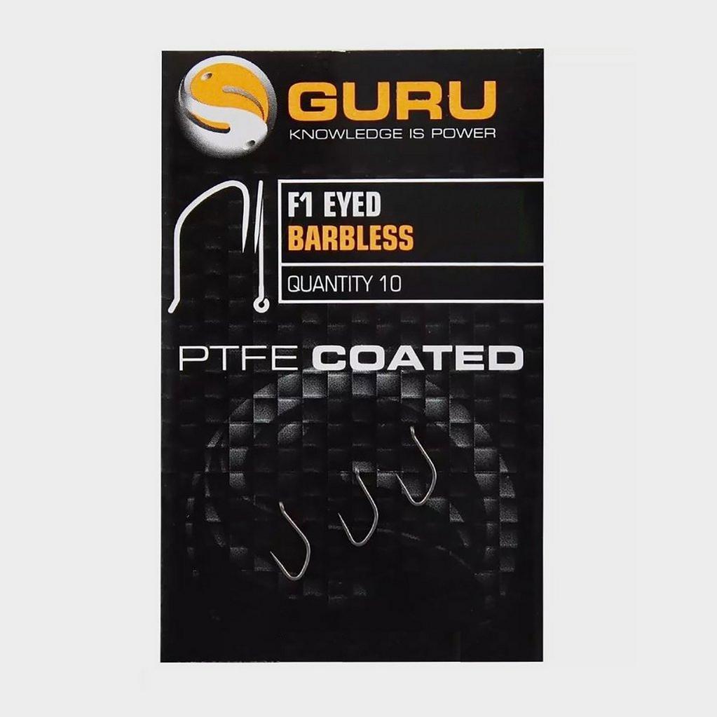 Black GURU F1 Eyed Hooks (Size 14) image 1