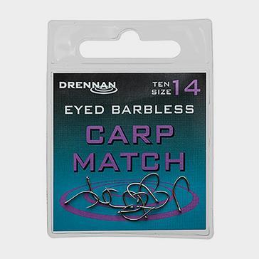 Blue DRENNAN Eyed Barbless Carp Match Size 12