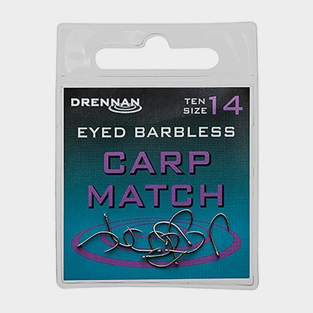 Multi DRENNAN INTERNATIONAL Eyed Barbless Carp Match Size 20 image 1