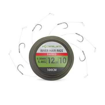 Green KORUM Sprsteel River Hair Rigs Sz 8