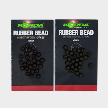 BLACK Korda Safezone 4Mm Rbr Beads Weed Grn