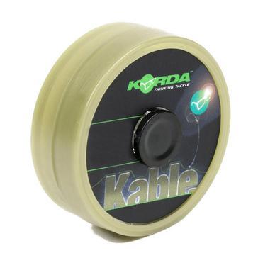 Green Korda Kable Leadcore Weed/Silt 7M