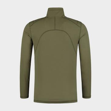Green Korda Men's Kool Quick Dry Long Sleeve Zip Neck Top