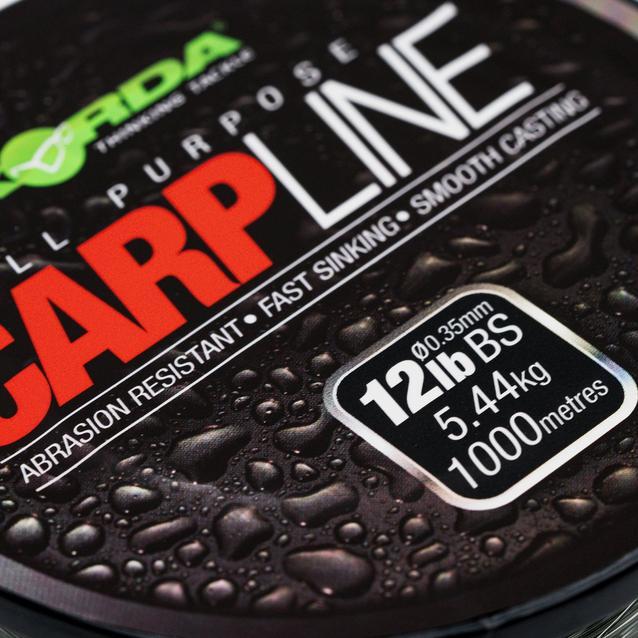 Black Korda 12Lb Carp Line 1000M image 1