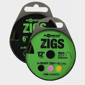 Multi Korda Ready Zigs 6ft Size 10