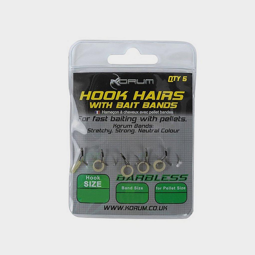 Multi KORUM Sz14 Hk Hairs With Bait Bands image 1
