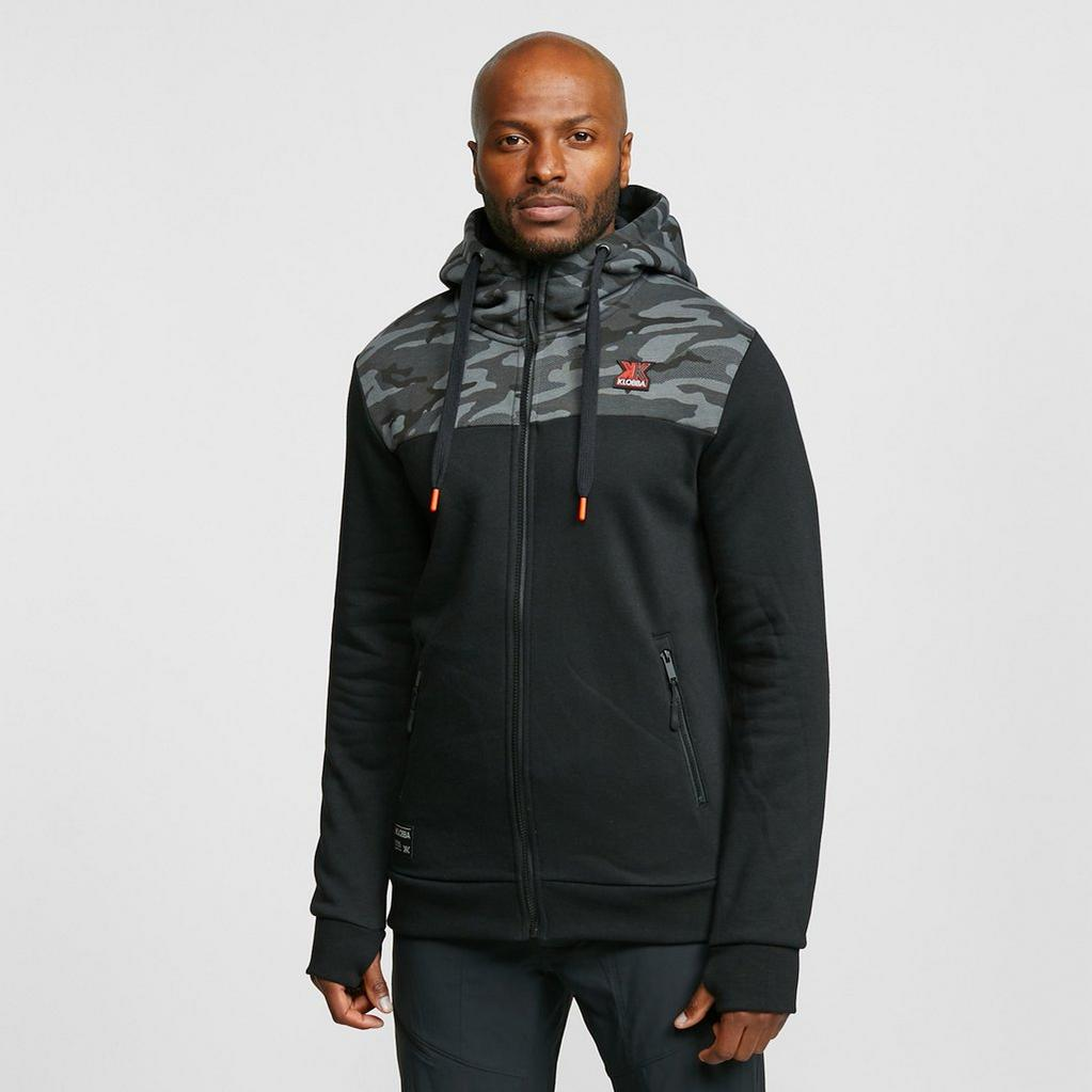 Black KLOBBA Men's Camo Full Zip Hoodie image 1