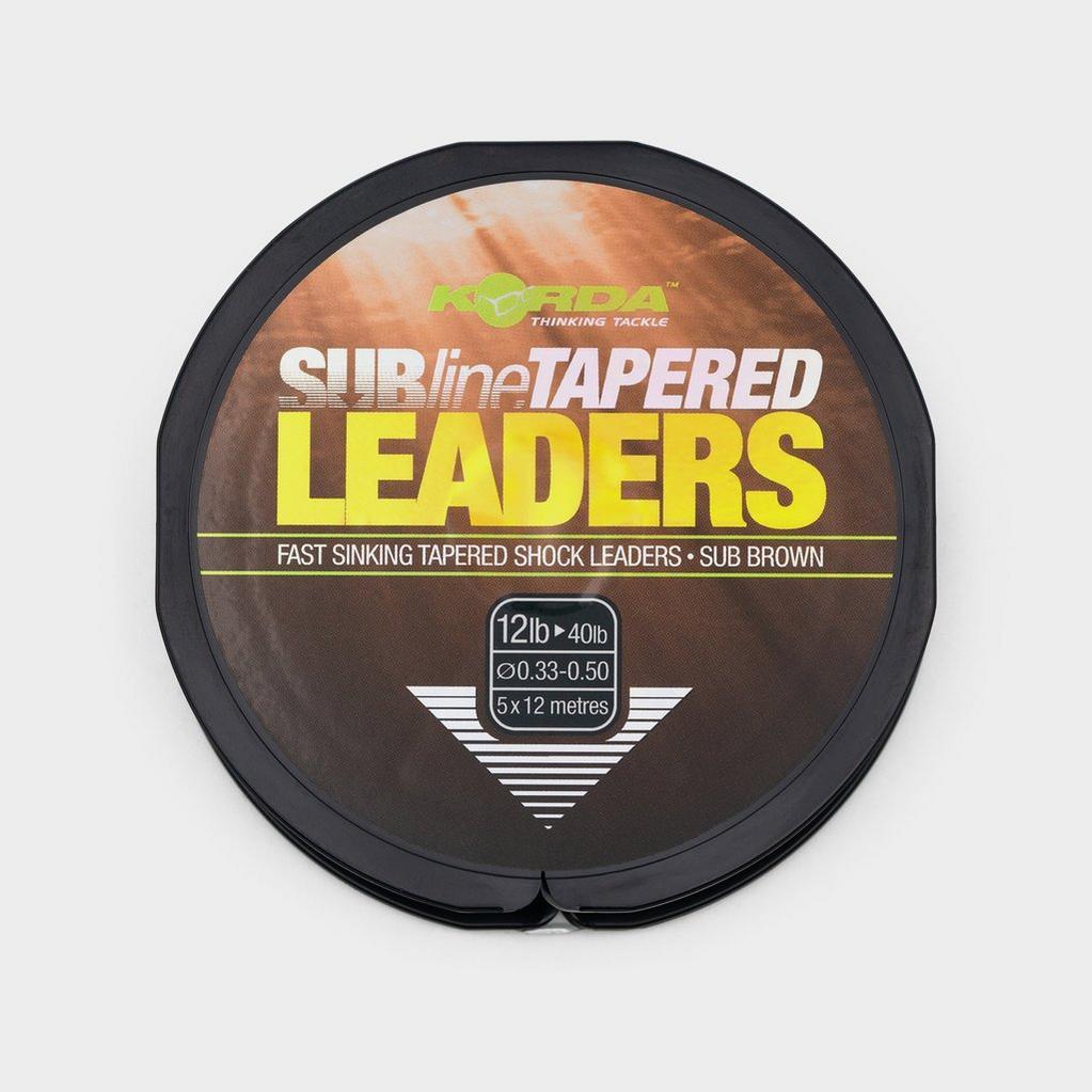 Black Korda Tapered Leaders 0.33Mm image 1