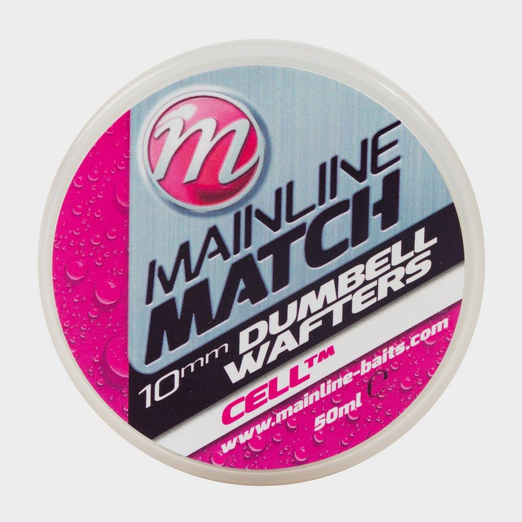 White MAINLINE Match Dumbell Wafters 10mm White Cell image 1