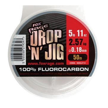 Red FOX RAGE 50M Drop Jig Flurocarbon 0.25Mm