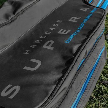 Black PRESTON Hardcase Supera Compact 6 Rod Holdall 195cm