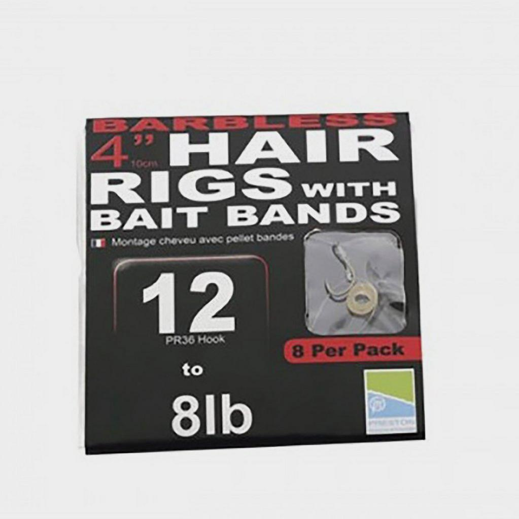 Multi PRESTON Bl 4In Hair Rig With Band Sz 18 image 1