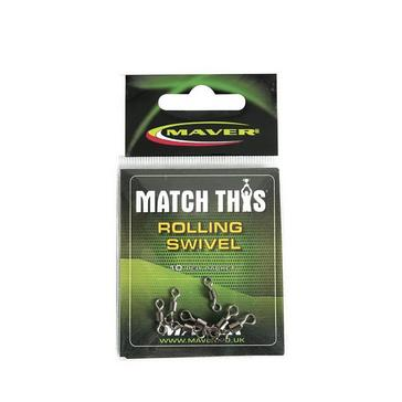 Silver Maver Match This Rolling Swivel Size 10