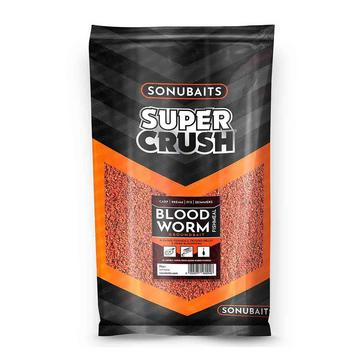 Red SONU BAITS Supercrush Bloodworm and Fishmeal Groundbait 2kg
