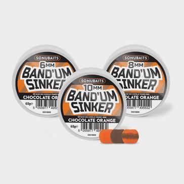 Orange SONU BAITS Band'um Sinkers in Chocolate Orange (6mm)