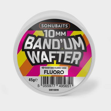 Pink SONU BAITS Band'Um Wafters Fluoro (10mm)