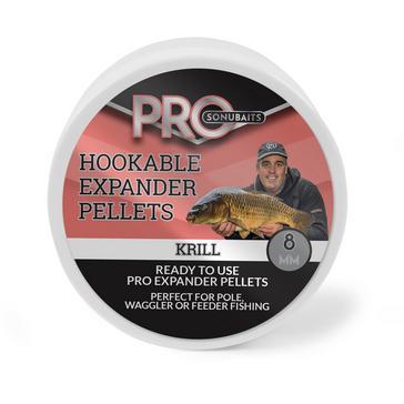 Red SONU BAITS Pro Hookable Expander Pellets 8mm - Krill