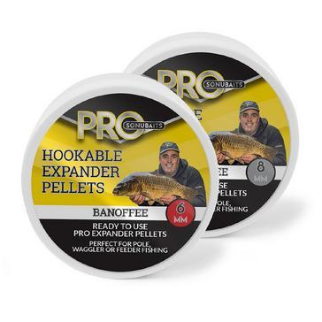 Yellow SONU BAITS Pro Hookable Expander Pellets in Banoffee (6mm)