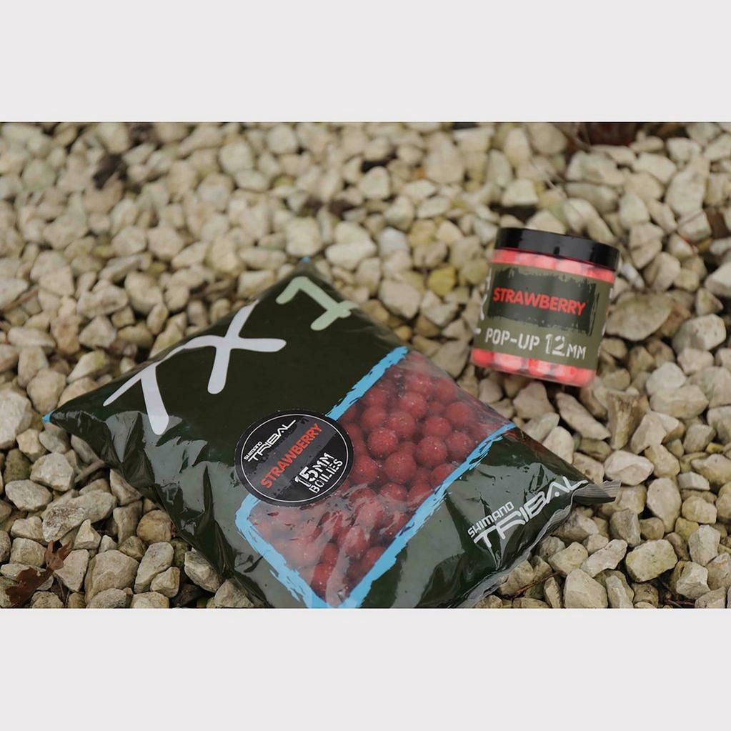 Red SHIMANO Tx1 Strawberry Boilie 15mm 1kg image 1