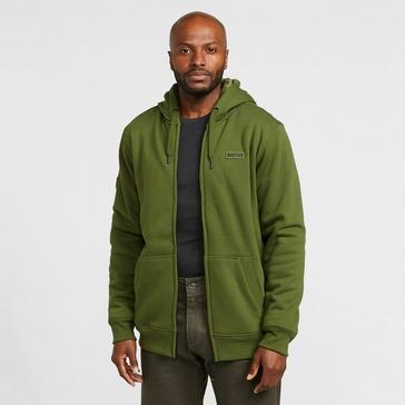 Dark Green Navitas Men's Sherpa Zip Hoodie