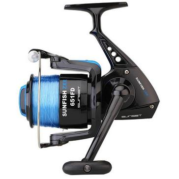 Black Garbolino Sunset Sunfish ZXR 651 FD Reel and Line
