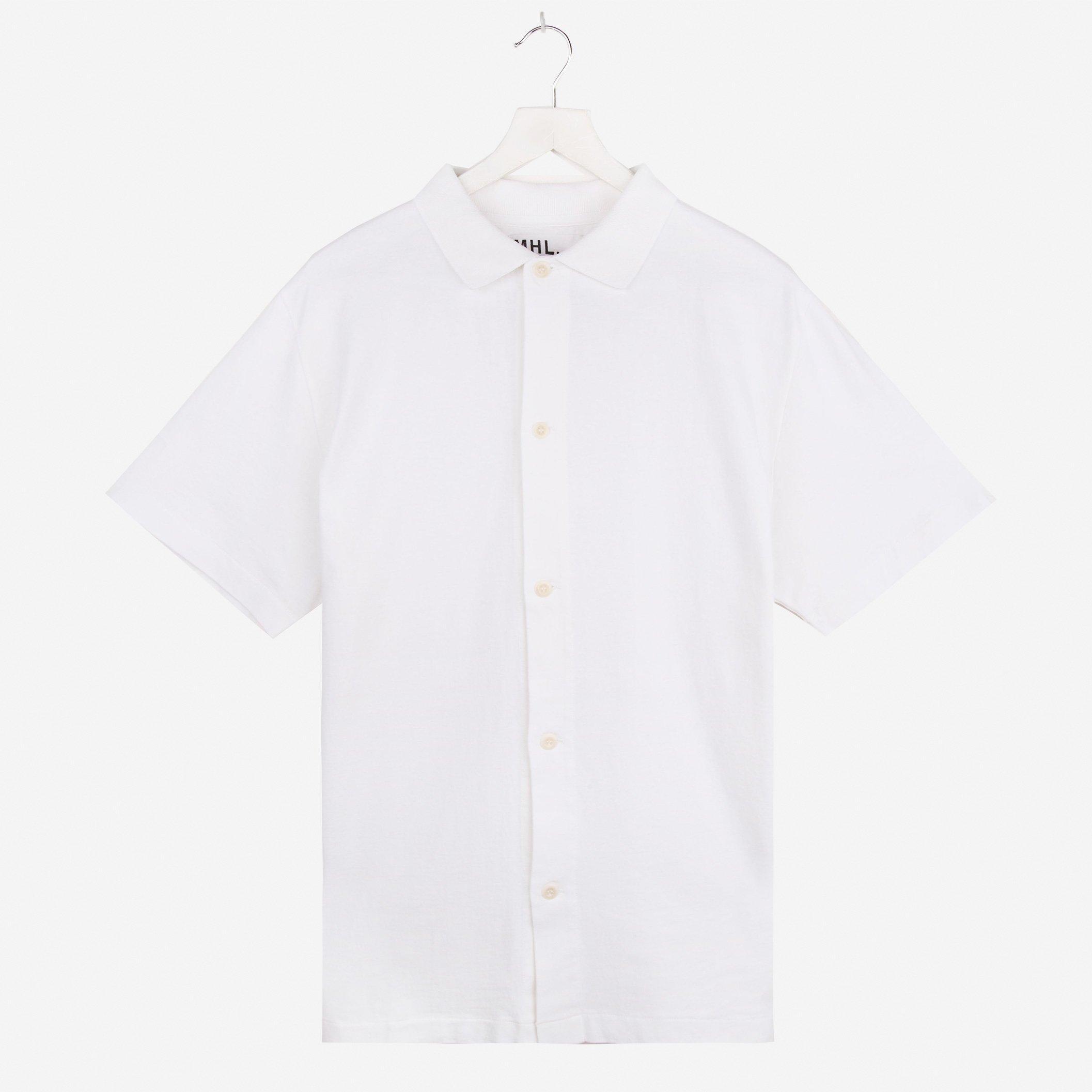 MHL Polo Shirt Matte Jersey Off White