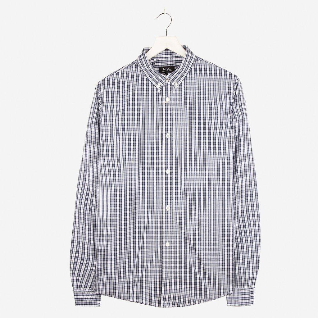 A.P.C. Checked Button Down Shirt