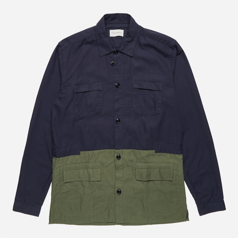 Oliver Spencer Berwick Shirt Calvert Navy Green