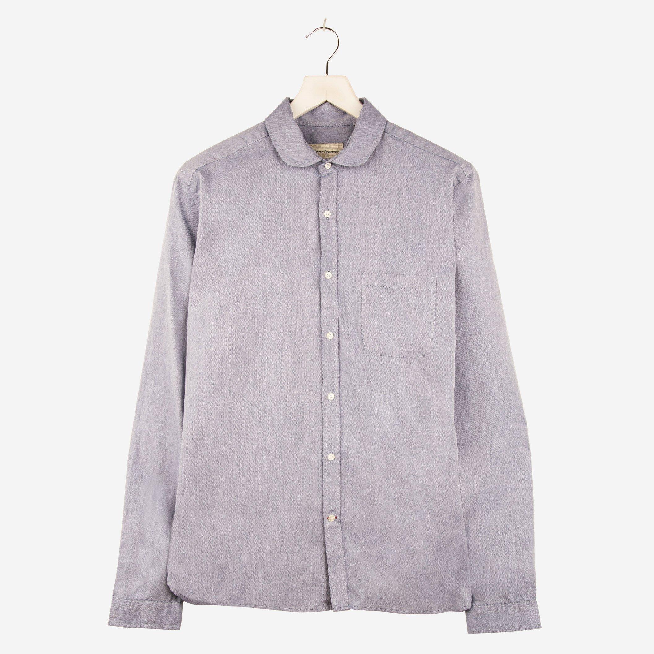 Oliver Spencer Eton Collar Shirt Astley Blue
