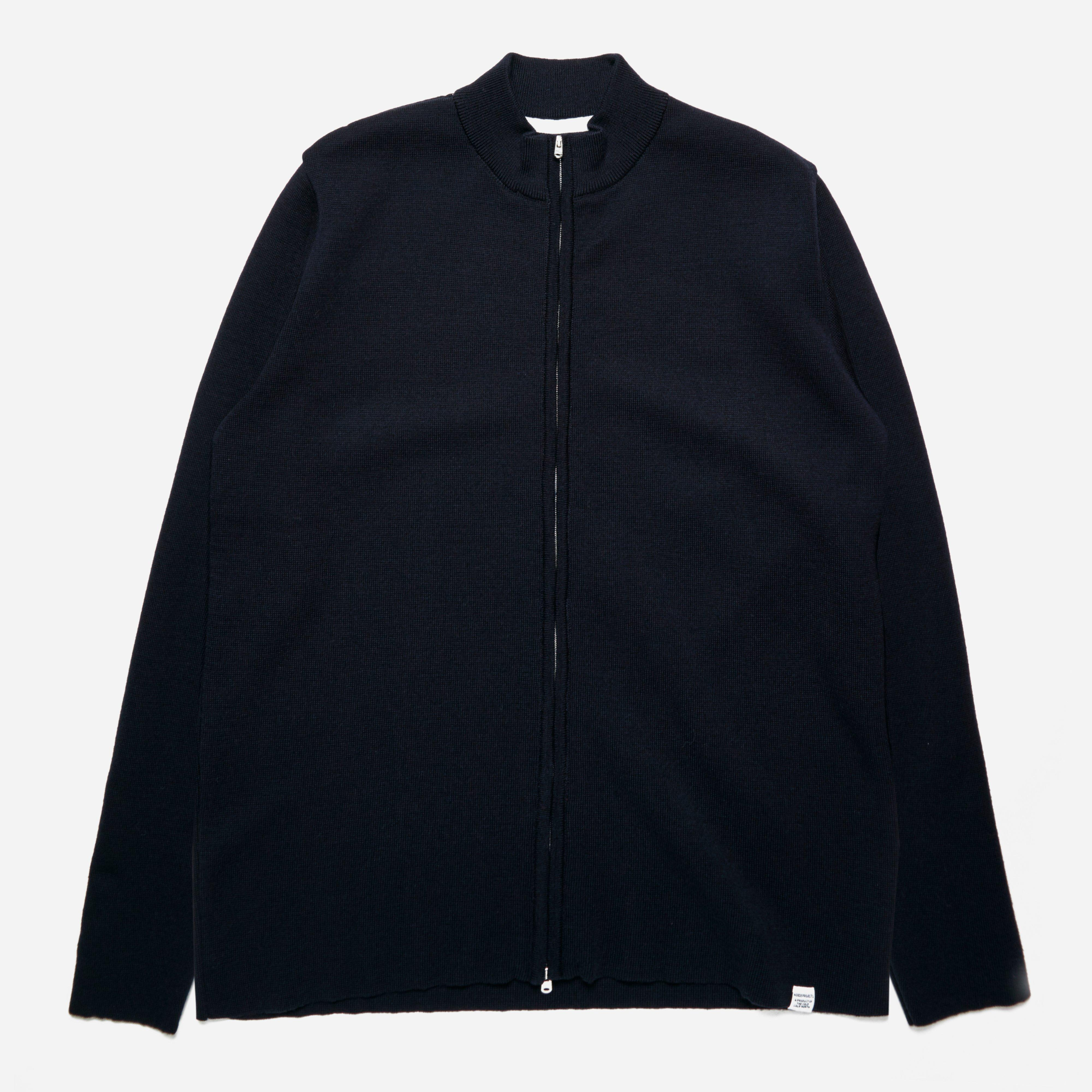 Norse Projects Sigfred Fine Merino Zip Cardigan
