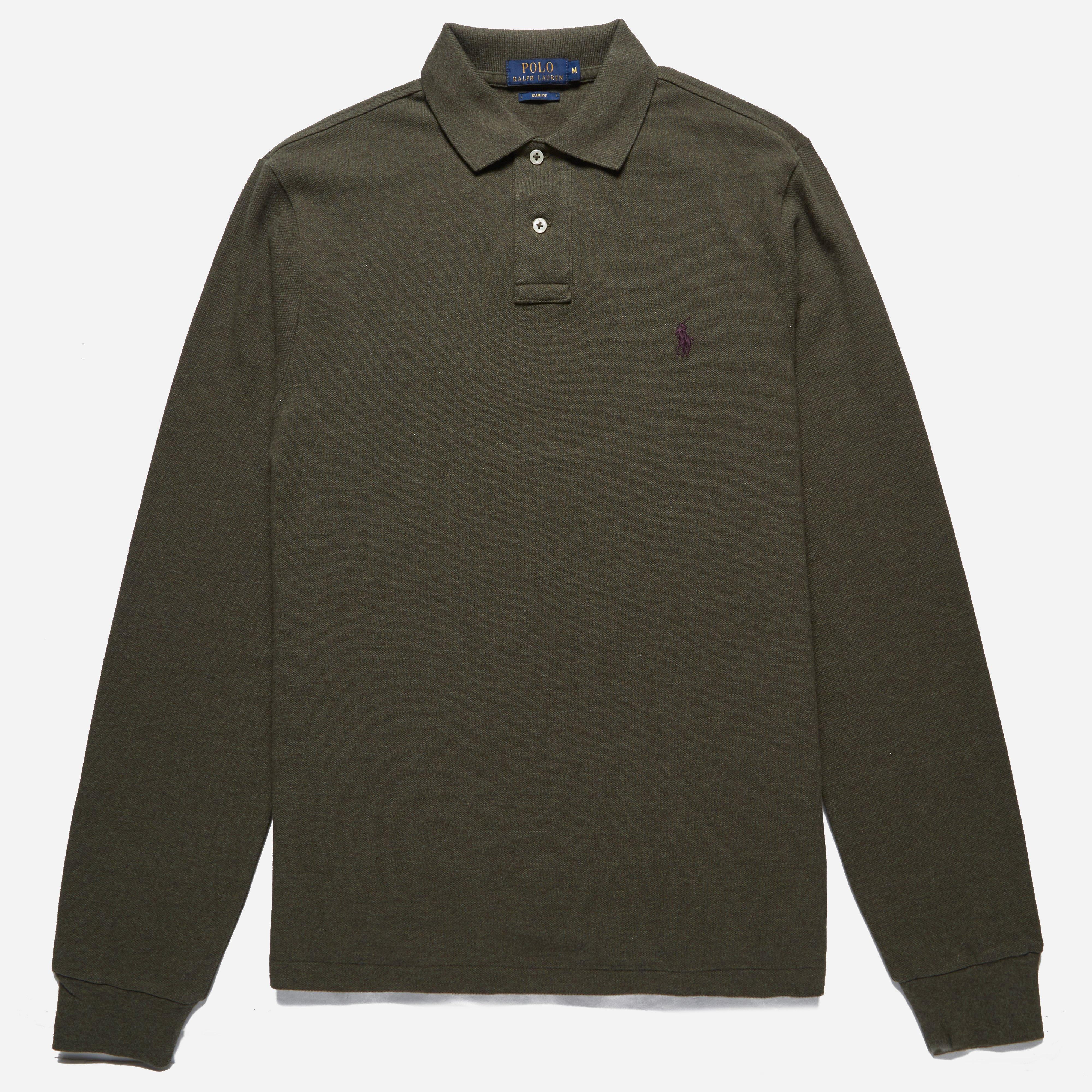 Polo Ralph Lauren Slim Fit Long Sleeve Polo