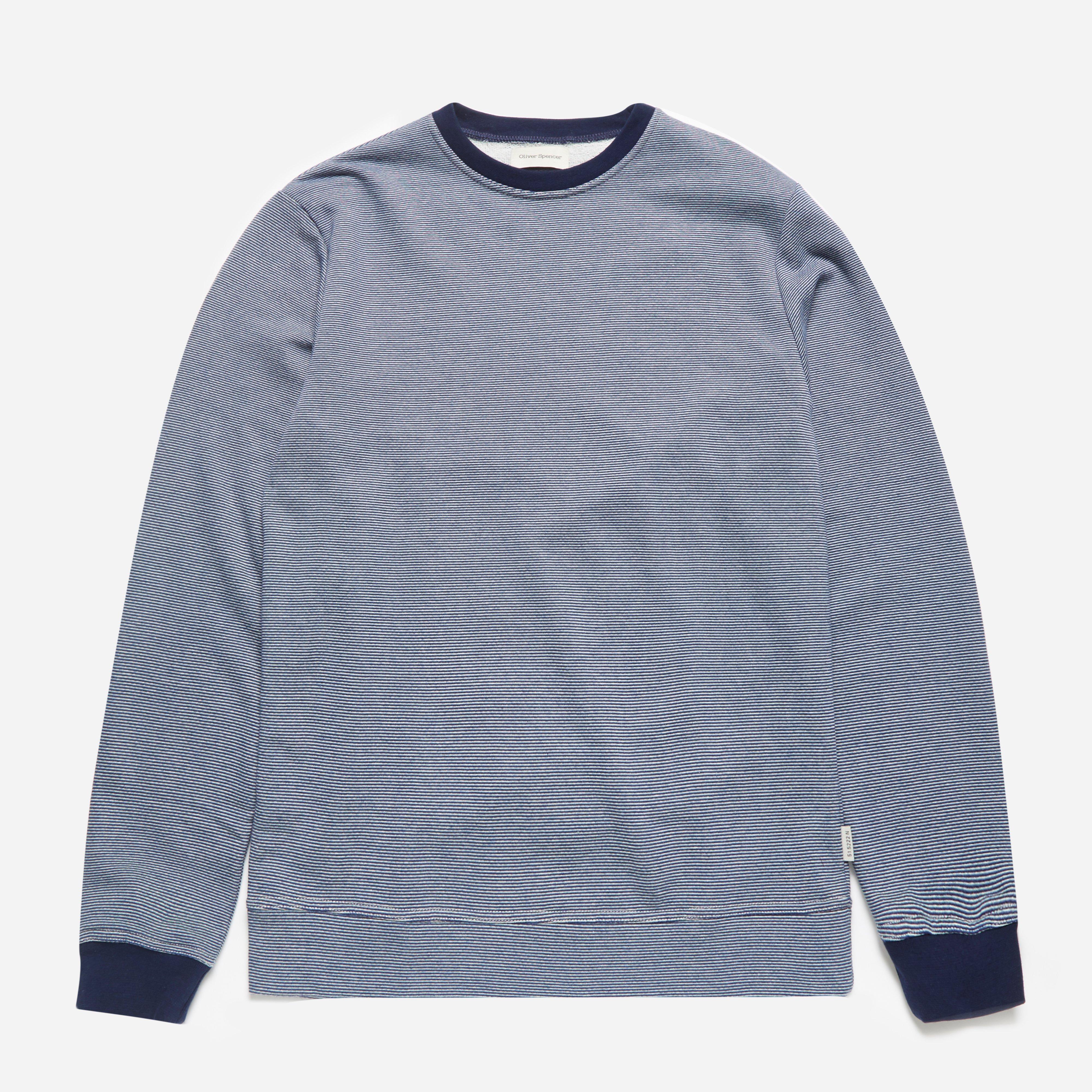 Oliver Spencer Mali Sweatshirt Navy Multi