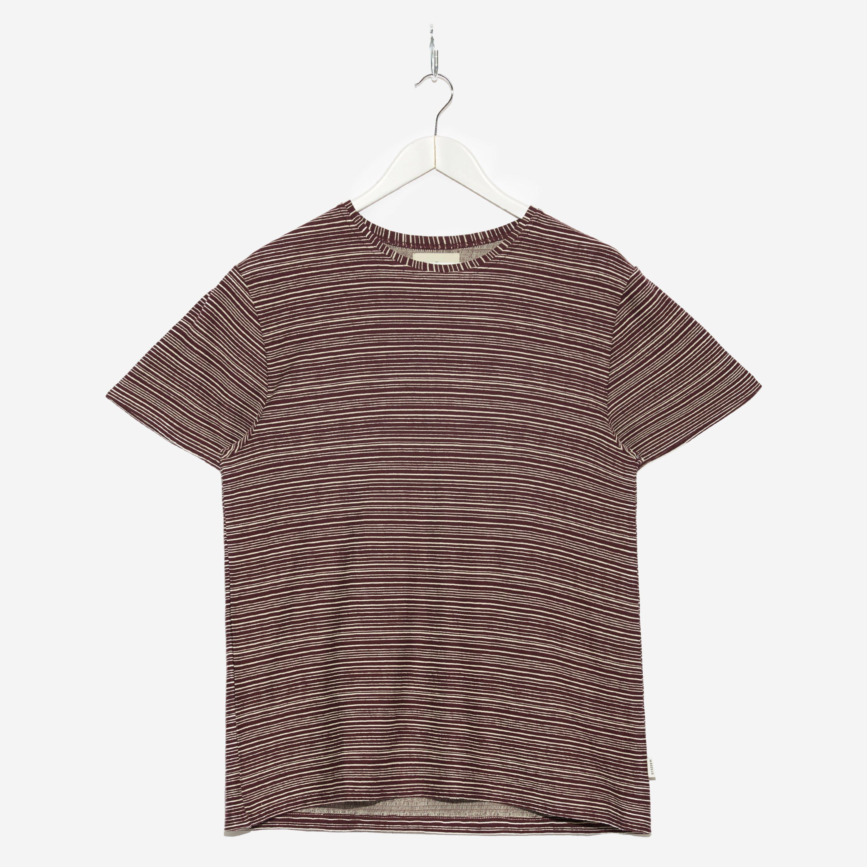 Oliver Spencer Conduit T-shirt Burgundy Ecru