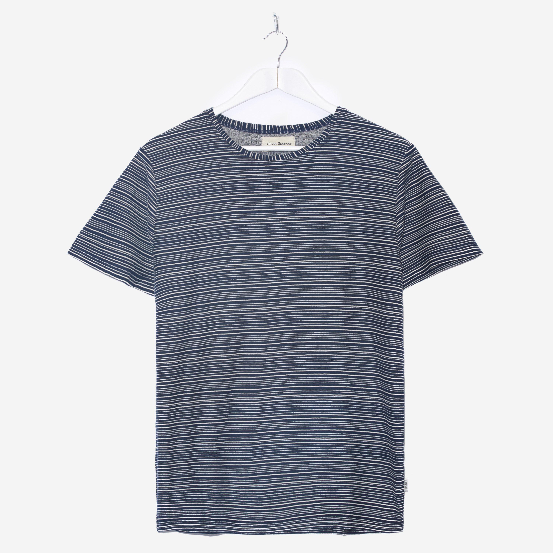 Oliver Spencer Conduit T-shirt Navy Ecru
