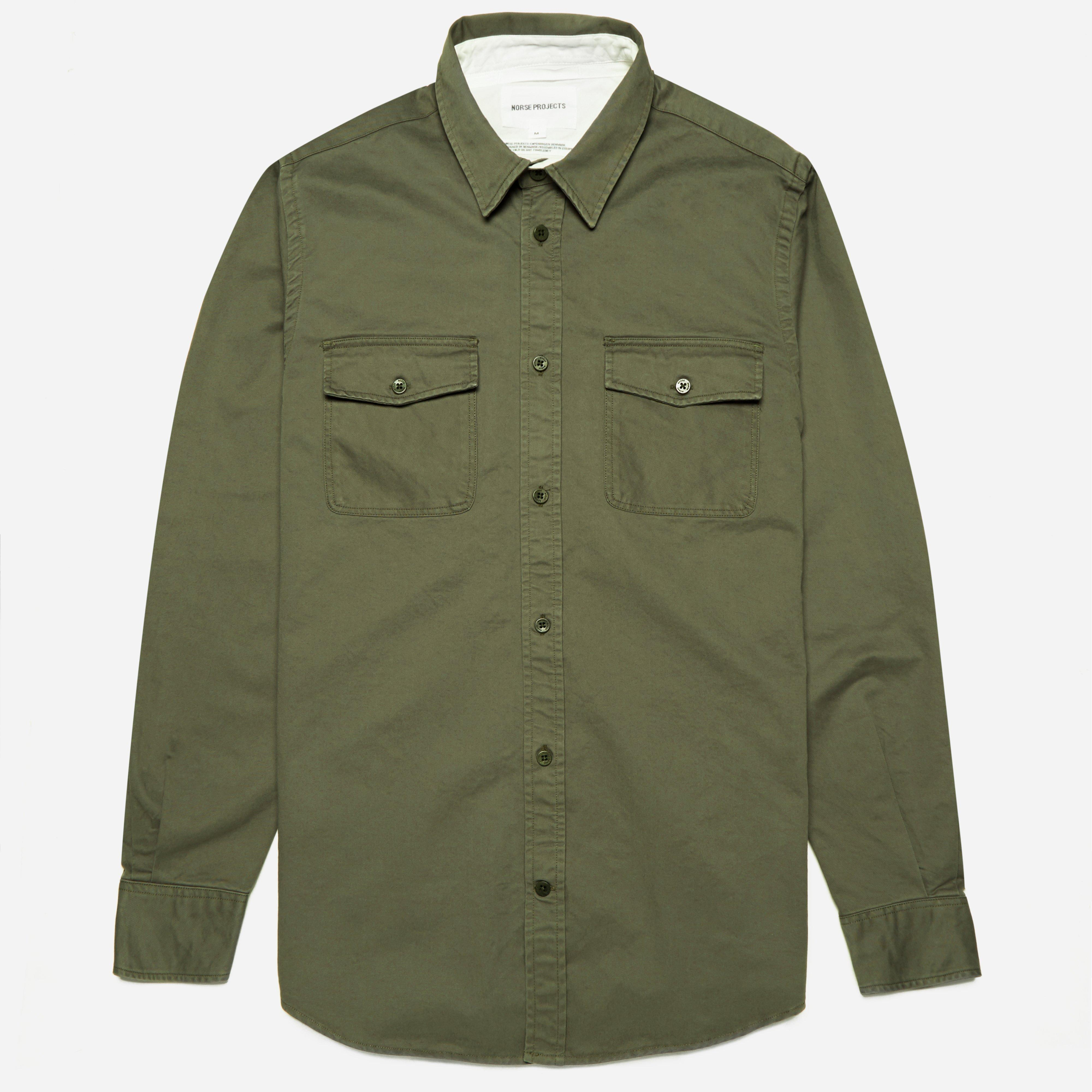 Norse Projects Villads Compact Twill Shirt