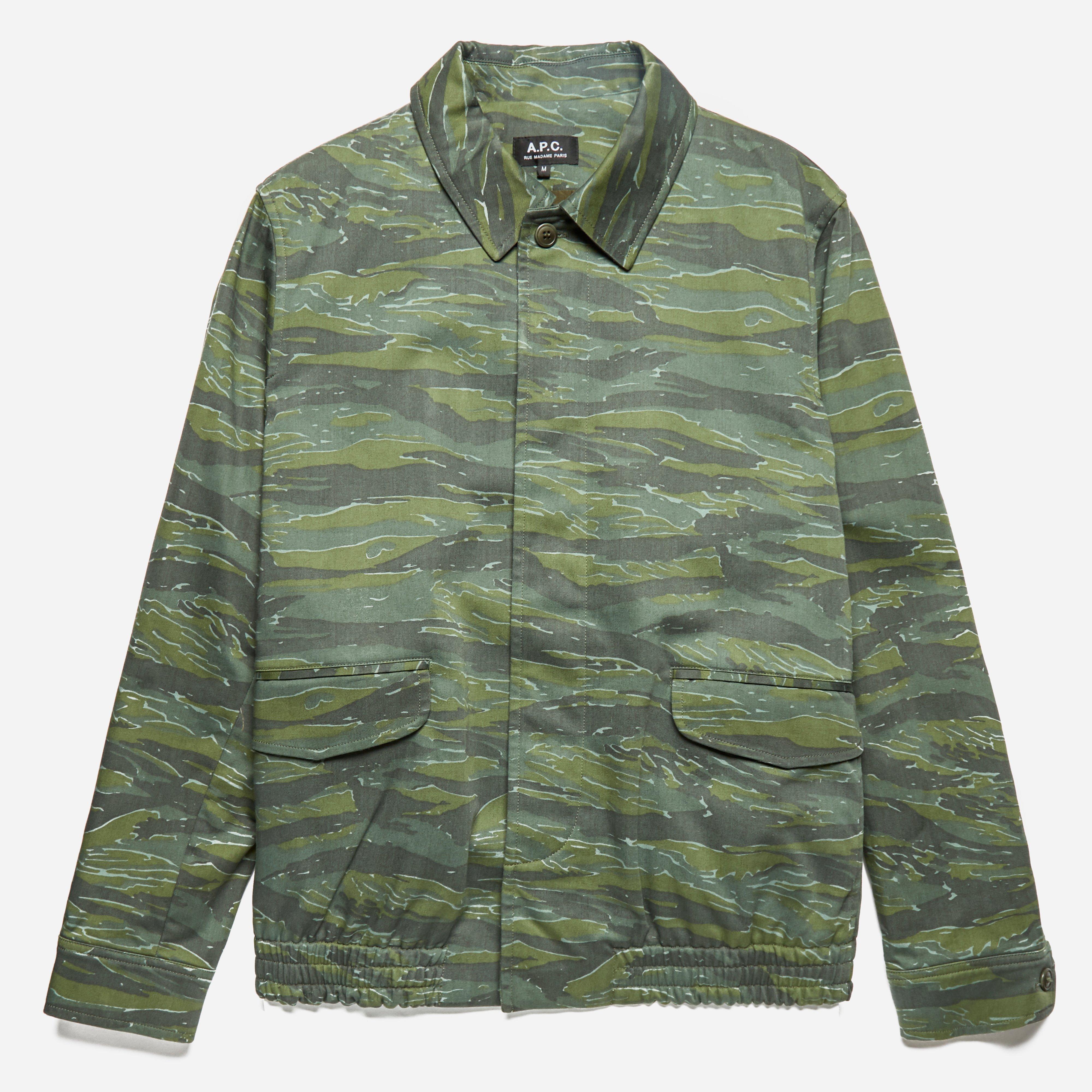 A.P.C Camouflage Blouson Green