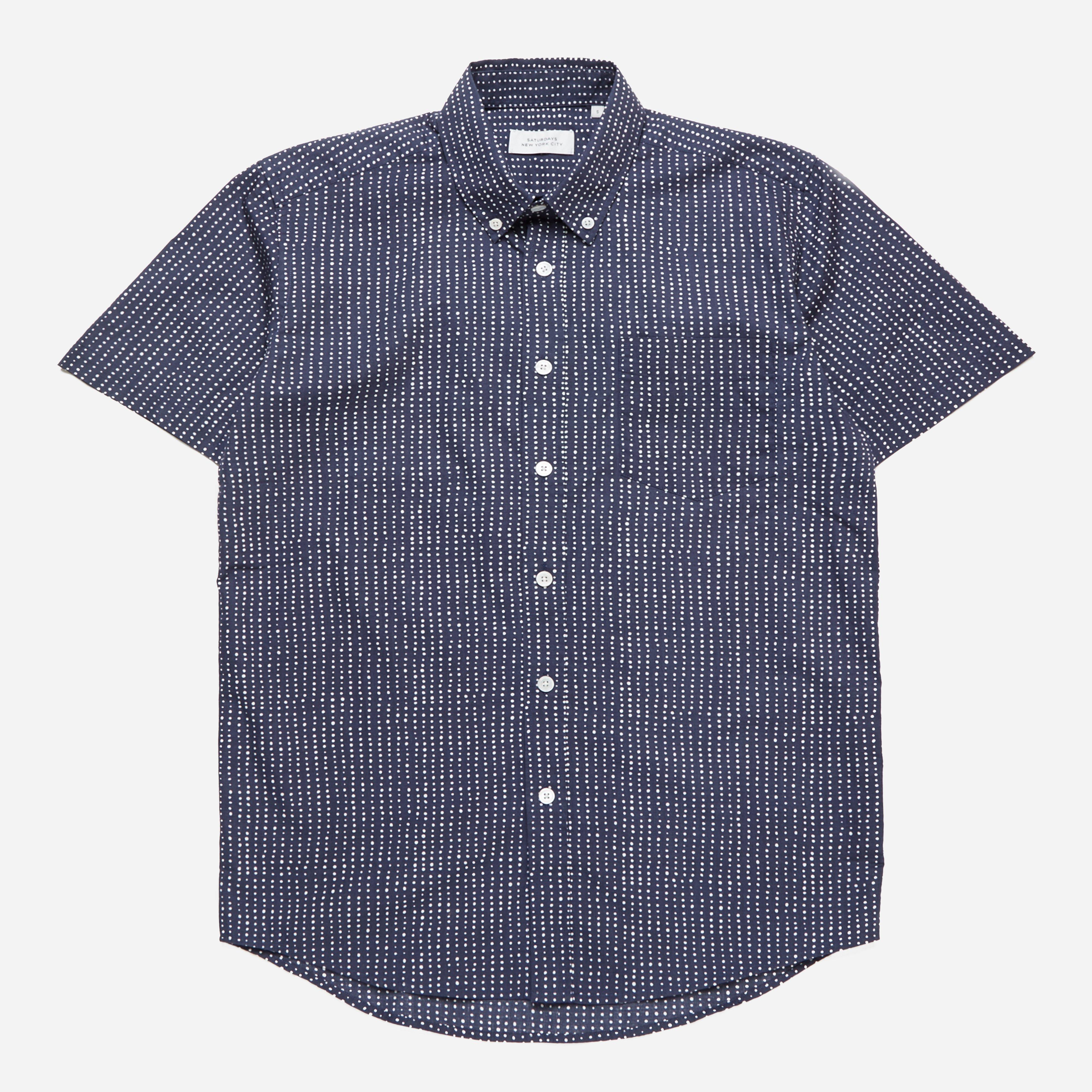 Saturdays Surf NYC Stipple Print S/S Shirt