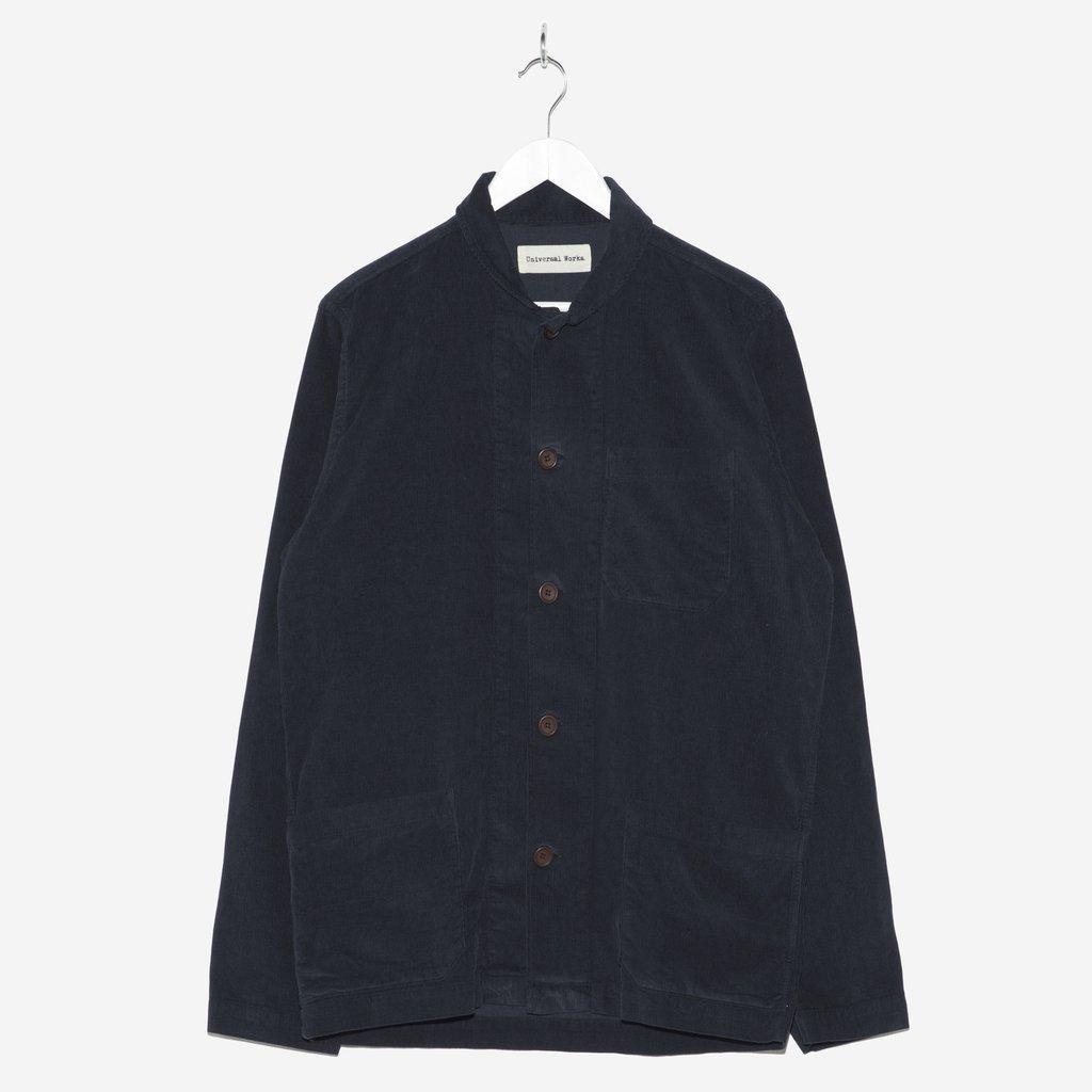 Universal Works Fine Cord Shawl Collar Overshirt