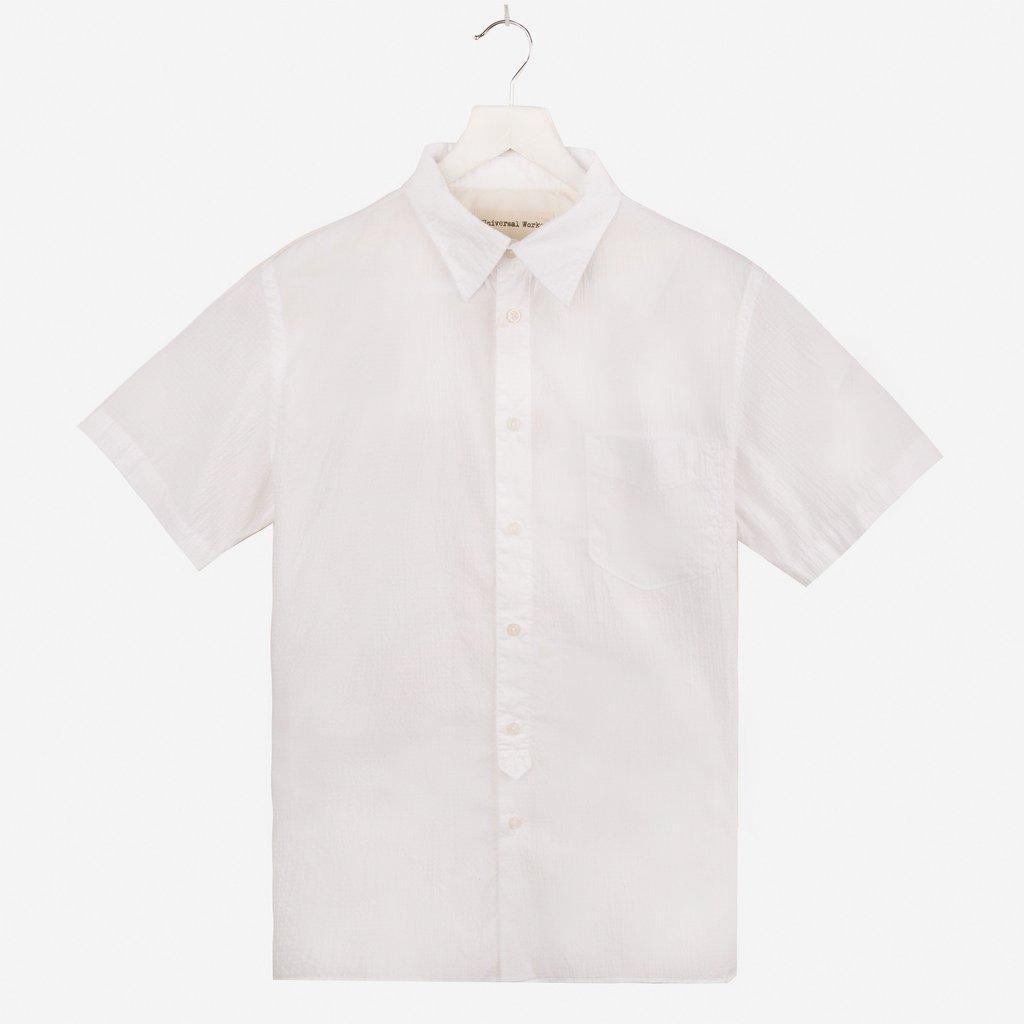Universal Works Seersucker Short Sleeved Shirt